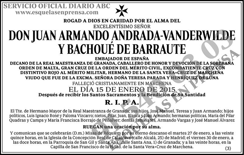 Juan Armando Andrada-Vanderwilde y Bachoué de Barraute